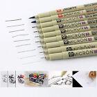 Sakura Pigma Micron Fine Line Pen 005 01 02 03 04 05 08 1 Brush Art Supplies