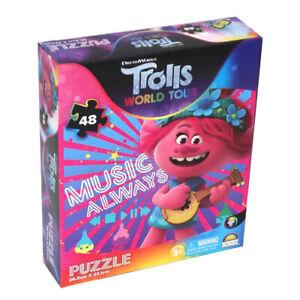 48pc Trolls World Tour Jigsaw Puzzle Kids/Child 3y+ Educational Toy Music Always