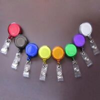 5pcs Retractable Pull Key ID Card Clip Badge Lanyard Name Tag Pass Card Holder