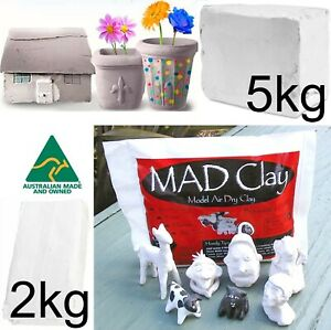 BULK 2kg 5kg WHITE Air Drying Modelling Clay Model Hardening Dry Kids Art Craft