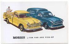 Morris Half Ton Van and Pick Up Original colour Postcard