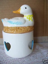 Vintage Rare W. A. 1987 Taiwan Votive Candle Holder With Duck Swan Bird Topper