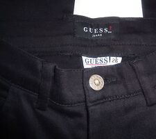 Guess Jeans Black Cotton Blend Casual Stretch Pants Size 26 NWT