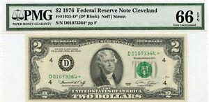 1976 $2 Cleveland FRN *STAR* PMG 66 EPQ Fr 1935-D*364
