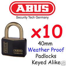 ABUS 40mm Marine Outdoor Padlocks x10  KEYED ALIKE BULK LOT High quality