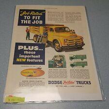 New listing 1940's Dodge Job Rated Trucks Farm Flat Stake Bed Photo Art Decor Man Cave ad