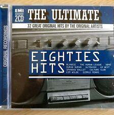 2CD NEW - ULTIMATE EIGHTIES HITS - Pop 80s Music 2x CD Album Blondie Duran Wilde