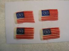 TOY WOOD BOAT K&O  NEW OLD STOCK REPLACEMENT CLOTH FLAGS ITO VINTAGE   4 FLAGS