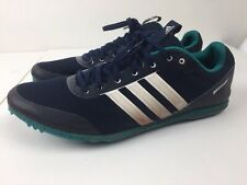 Adidas Distancestar Men's Navy/White/Turquoise Track Running Shoes Size 10