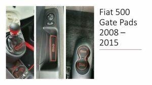 FIAT 500 2008 - 2014 DASHBOARD INTERIOR GATE MAT PAD TRIM SET  - RED ONLY