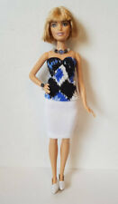 Fits PETITE BARBIE DOLL CLOTHES Top Skirt & Jewelry Handmade Fashion NO DOLL d4e