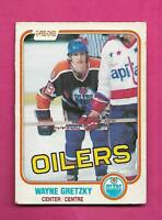 1981-82 OPC # 106 OILERS WAYNE GRETZKY CREASED CARD (INV# D1526)