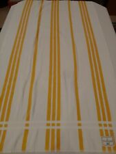 "Lot of 2 Ralph Lauren Yellow & White Stripe Beach Towels 65"" x 34"""