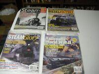4  Magazines On Trains,Classic Trains Magazines 2006-2008 Special Collectors Isu