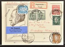 GERMANY Poland 1932 Poet Goethe Pic PSC Card by g Airmail Angermünde-Hindenburg