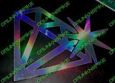 DIAMOND SPARKLE JDM EURO VAG OIL SLICK CHROME DECAL STICKER CAR WINDOW BUMPER