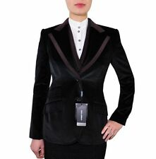 Patternless Velvet Formal Coats & Jackets Blazer for Women