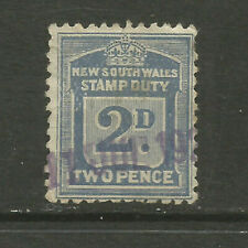 Australia/New South Wales 1917-1918 2d Stamp Duty revenue/fiscal stamp