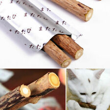 New Pet Cat Snacks Matatabi Chew Catnip Stick Teeth Molar Cleaning Brush Toys