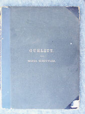 BOUND COLLECTION OF CORNELIUS GURLITT SHEET MUSIC LATE 1800'S