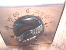 Vintage Westckox Metal Kitchen Timer Wall Mount or Stand Needs Work/For Parts