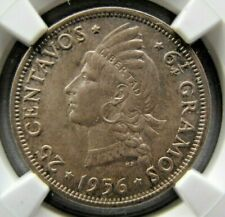 Dominican Republic 25 Centavos 1956 NGC MS 65