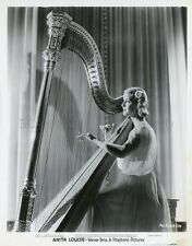 ANITA LOUISE 1940S WARNER BROS  (BY HURRELL ?) VINTAGE PHOTO ORIGINAL HARP