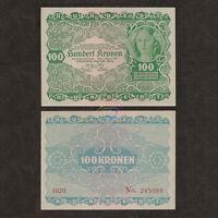 AUSTRIA 100 Kronen 1922 P-77 AU