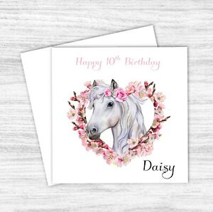Personalised Horse Birthday Card For Girl - Daughter - Granddaughter - Niece