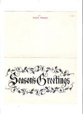 Pete Drake Vintage Country Music Steel Guitar 1968 Christmas Card in Envelope