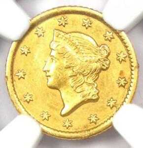 1853-O Liberty Gold Dollar G$1 - Certified NGC AU Detail - Rare Date Coin