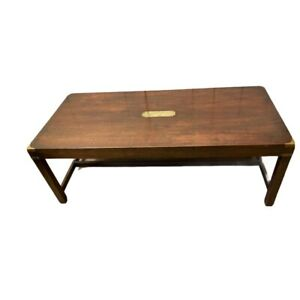 Vintage Military Campaign Style Mahogany Coffee Table