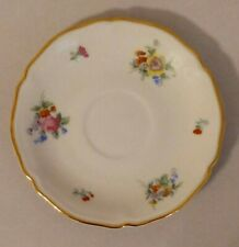 Hutschenreuther Bavaria Germany US Zone Floral Saucer Plate EUC