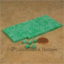 NEW 5mm 200 Green Mini Six Sided Dice Set RPG Game Miniature Tiny 3/16 inch D6