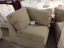 Pottery Barn Comfort Sofa Sectional  CORNER POLY BOX Slipcover Walnut Canvas