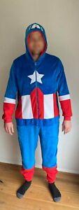 Marvel Captain America One Piece Sleepsuit PJs Primark Fancy Dress Superhero NEW