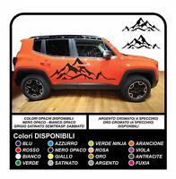 Adesivi fiancate laterali per Jeep Renegade Montagna - Qualità Superiore - NEW