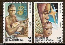 Equatorial GUINEA ECUATORIAL Edifil # 107/108 ** MNH Navidad / Christmas