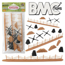 BMC WW2 ATLANTIC WALL Fortification 21pc Plastic Army Men 1:32 Scale Accessories