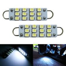"""2 PCS 44mm 12-SMD Rigid Loop White Festoon 1.73"""" LED Light Bulbs 561 562 567"""