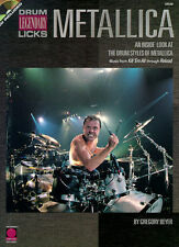 Metallica Drum Legendary Licks Music Book Drums CD NEW