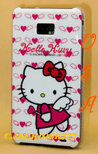 for samsung galaxy s2 hello kitty case white pink w/ heart  i9100 AND I i777 //