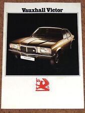 1973 VAUXHALL VICTOR SALOON Sales Brochure - 1800 & 2300