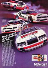 1986 Ford Motorcraft Race Thunderbird - Classic Vintage Advertisement Ad A82-B