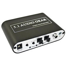 DIGITAL DOLBY DTS AC-3 OPTICAL TO 5.1 ANALOG AUDIO GEAR SOUND DECODER SPDIF NEW