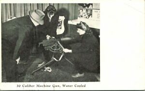 Vintage Postcard  PROVIDENCE RI  OUTLET CO. ARMY EXHIBIT  30 CALIBER MACHINE GUN