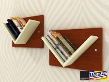 Set 2Pz Libreria modulare Mensole Design cameretta CILIEGIO CREMA made in italy