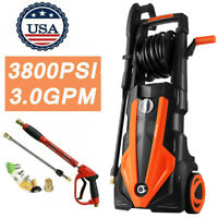 3800PSI 3.0GPM Electric Pressure Washer 2000W High Power Cleaner Water Sprayer ~