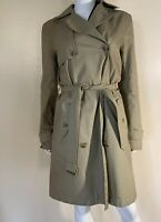 Gap Women's Tan Khaki Oak Classic Chino Trench Coat Jacket Size M Tall