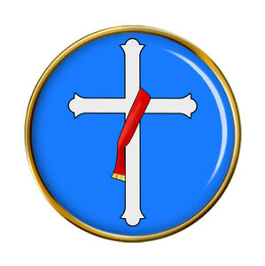 Deacon's Cross Christian Pin Badge